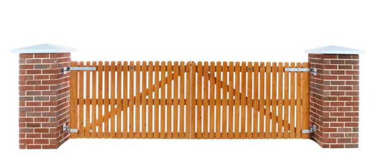 Picket Timber Gates