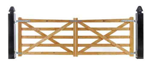 Country Courtyard Gate - Stained